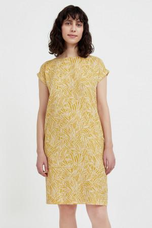 прямое платье с растительным узором Finn-Flare